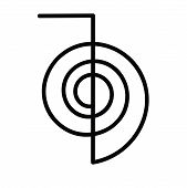 picture of cho-cho  - Artwork of the Power Symbol Cho Ku Rei for the Japanese healing system reiki - JPG