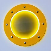 Hatch On The Ship, Yellow Circle With Metal Rivets poster