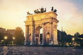 Arco Della Pace In Milan , Italy poster
