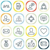 Communication Icons Set With Inbox, Unread Letter, Best And Other Mailbox Elements. Isolated  Illust poster