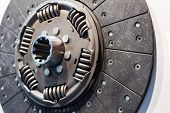 Clutch Disc For A Car Engine. Close-up Photo. poster