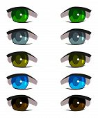 Set Of Different Anime Eyes, Beautiful, With Eyelashes poster