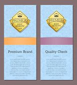 Premium Brand Quality Check Premium Best Quality Label With Place For Text, Premium Quality Commerci poster