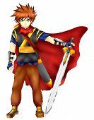Hero Swordsman Of The Big Strength, Anime Style. poster