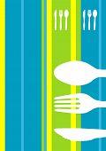 Постер, плакат: Ретро полосы меню дизайн