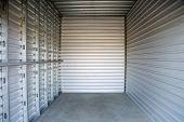 Storage Unit. Storage Locker. Empty Storage unit.  poster