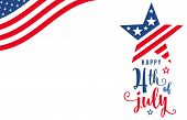 Fourth Of July. 4th Of July Celebration Holiday Banner. Usa Independence Day Poster With Blank Place poster