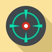 Old Gun Aim Icon. Flat Illustration Of Old Gun Aim Vector Icon For Web Design poster