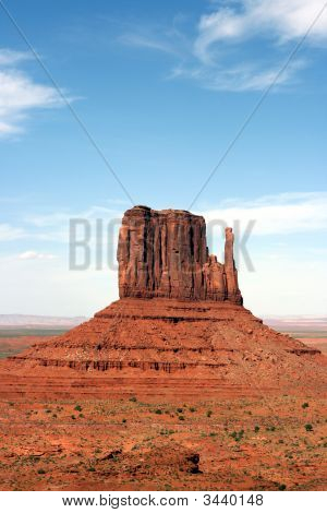 A Butte Rock Formation In Monument Valley