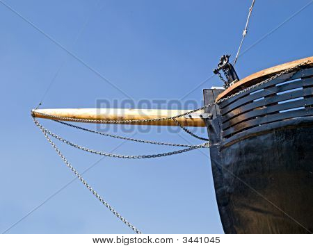 Prow Of An Old Wooden Boat