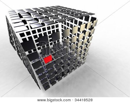 cube decomposed