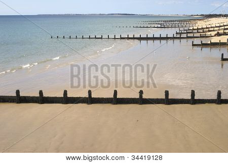 Beach At Bognor Regis. Sussex. UK