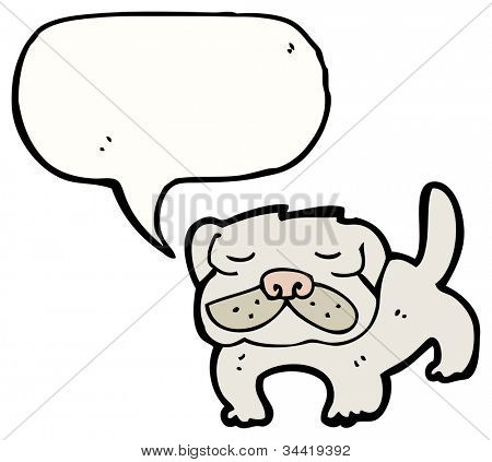 cartoon pug dog