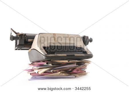 Folders With Typewriter