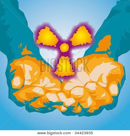 Átomo y manos
