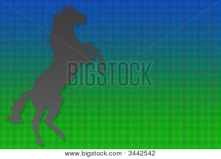 Dotted Rampant Horse