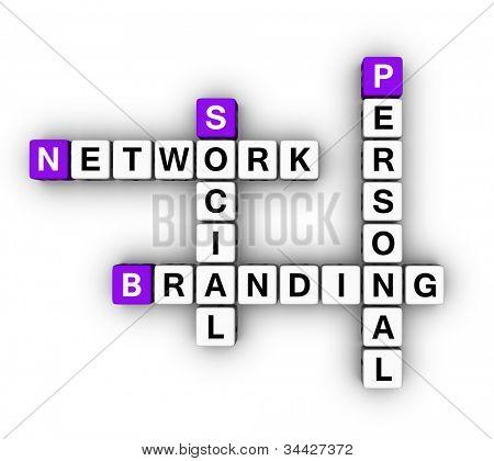 Personal Branding Social Network (cubes crossword series)