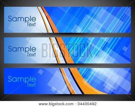 Website header or banner set with colorful background, can be easily edit and use for website or blog design. EPS 10