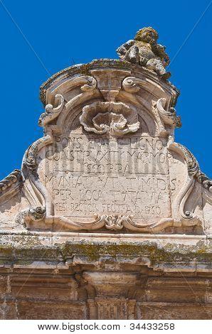 The Scoppa arch of Ostuni. Puglia. Italy.