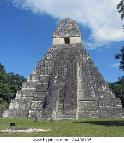 Guatemala, Tikal - Maya Temple of the Great Jaguar.