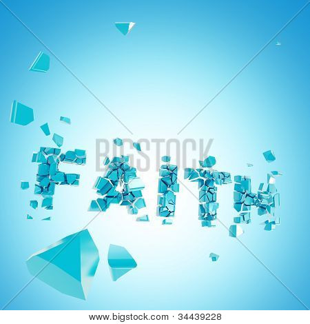 Broken faith abstract backround composition
