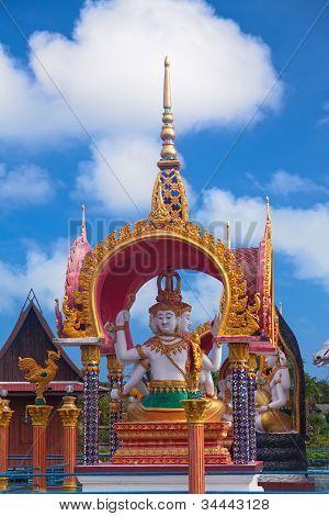 Buddha Statue In Wat Plai Laem