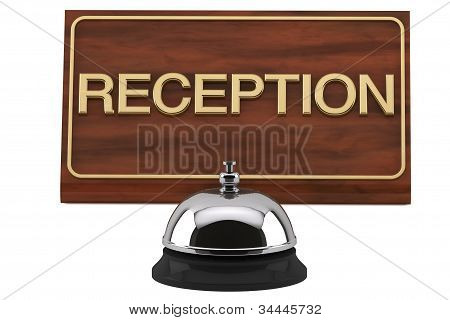 Service Bell With Reception Sign