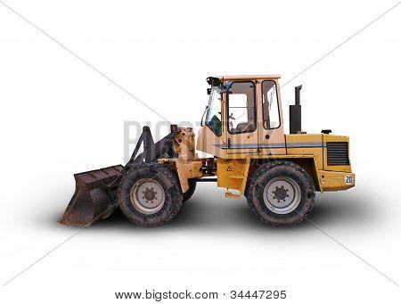 Wheel Loaders Excavator Isolated
