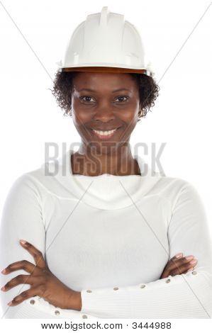 Woman Engineer Smiling