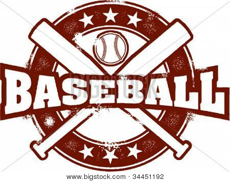 Vintage Style Baseball Stamp