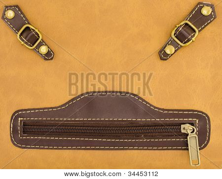 Smiley Face Of Leather Bag
