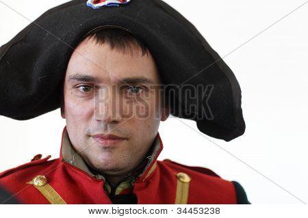 Man Posing In Napoleonic Uniform