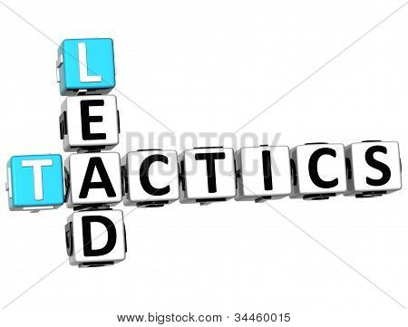 3D Lead Tactics Crossword