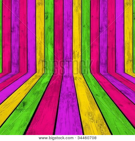 Bright Wooden Room Background