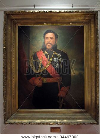 Painting Of King David Kalakaua