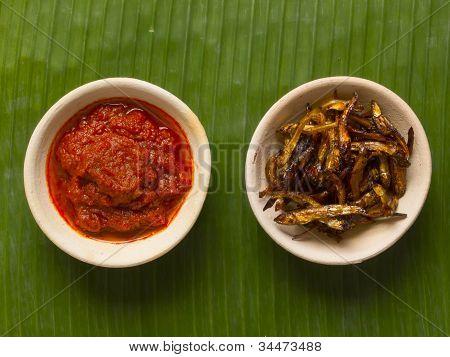Fried Anchovies And Sambal Chili