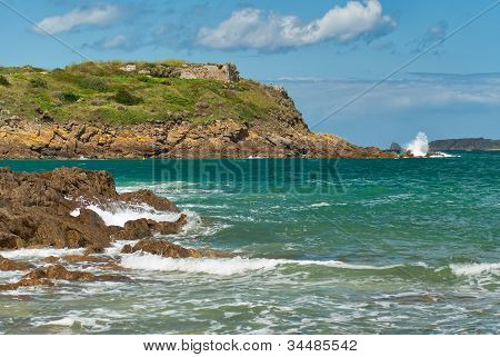 Saint-malo, France, Rock, Surf