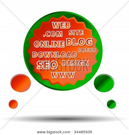 Multi-farbigen Web-poster