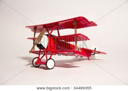 Red Vintage Airplane Toy