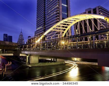 Schamhaare Skywalk, Innenstadt Platz Bangkok, thailand