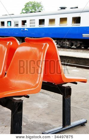 Chair waiting for the train