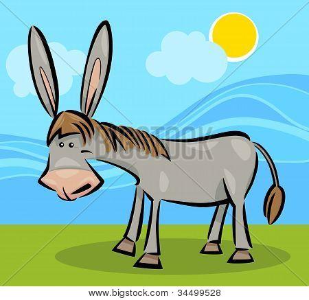 Cartoon-Illustration der Esel