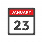 January 23 Calendar Icon W Day Of Month poster