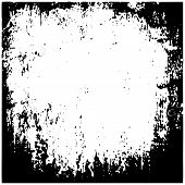 Grunge Black And White Urban Texture Vector. Place Over Any Object Create Black Grunge Effect. Distr poster