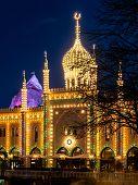 Picture Of Tivoli Gardens, Copenhagen, In The Night poster
