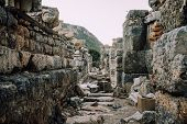 Antique City Of Ephesus. The Ruins Of An Ancient City In Turkey. Selcuk, Kusadasi. Archaeological Si poster
