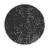 Grunge Stamp Mockup Of Distressed Overlay Circle Mark Texture For Your Design. Icon, Logo, Badge, La poster