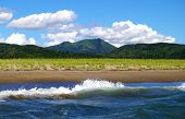 foto of sakhalin  - The See shore hills and sky - JPG