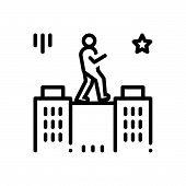 Black Line Icon For Charisma Talent Genius Brilliance Aptitude poster