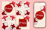 Template Valentines Vector. Post For Social Media. Stories Design Layout. Trendy Editable Template.  poster